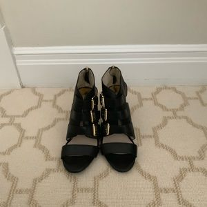 Michael Kors Black Strappy Sandals